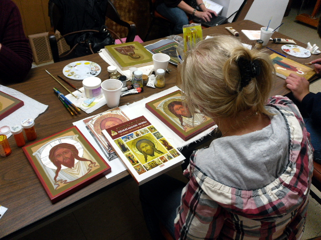 ICON CLASS 2018, SUNDAYS, OCTOBER 7, 14, 21, 28 FROM 12 PM TO 2 30 PM.<div>ARCHANGEL GABRIEL, EGG TEMPERA, BOARD 8